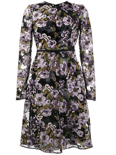 платье с вышитыми цветами и поясом с бантом Giambattista Valli