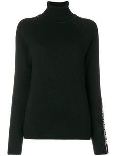 свитер в рубчик с отворотом на воротнике Moncler