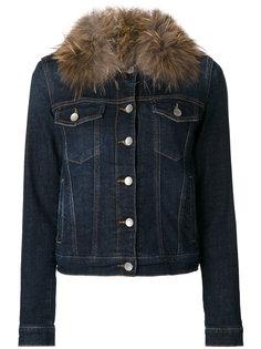 джинсовая куртка с меховым воротником  Twin-Set