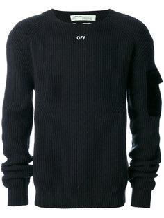 ребристый свитер Off-White