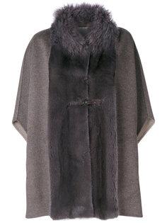 пальто-кейп со вставками  Manzoni 24
