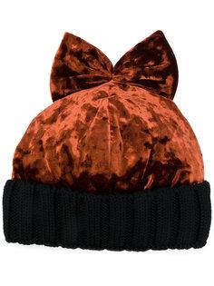 бархатная шапка с бантом Federica Moretti