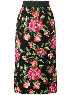 юбка-карандаш с цветочным принтом  Dolce & Gabbana