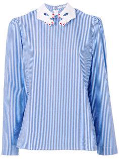 блузка с воротником в виде рук  Vivetta