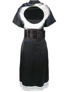 платье с графическим принтом и поясом Maison Margiela