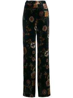 брюки клеш с вышивкой  Etro