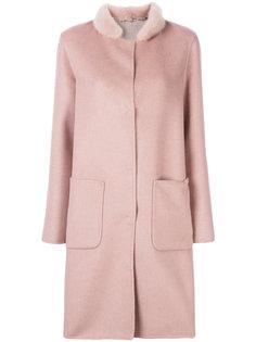 пальто с отделкой на воротнике  Manzoni 24