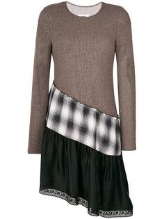 асимметричное ярусное платье  Mm6 Maison Margiela