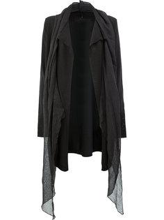 пальто-кардиган с драпировкой  Masnada