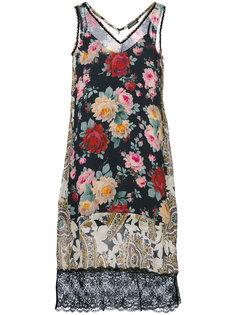 платье-миди с принтом роз Twin-Set