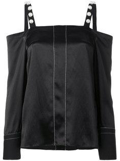 блузка с открытыми плечами и отделкой  3.1 Phillip Lim