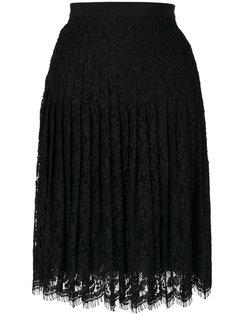 плиссированная кружевная юбка с вышивкой  Giambattista Valli