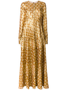 платье макси с вышивкой  Tory Burch