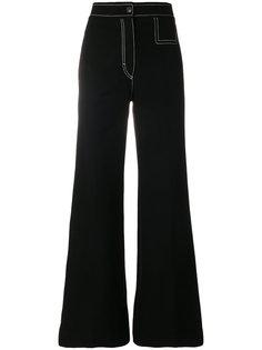 джинсы клеш с контрастной строчкой Joseph