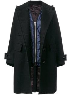 double breasted coat Sacai