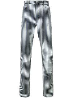 зауженные полосатые брюки Proper Gang