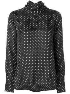 polka dot tie collar top Alberto Biani