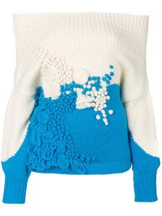 свитер с текстурированным дизайном Delpozo