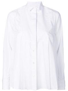 плиссированная рубашка  Sacai