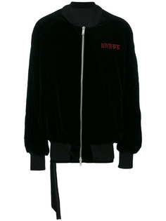 куртка-бомбер  с вышивкой черепа  Unravel Project