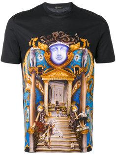 футболка с принтом замка Versace
