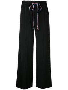 брюки с контрастной шнуровкой Le Ciel Bleu