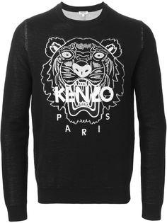 свитер Tiger с логотипом Kenzo