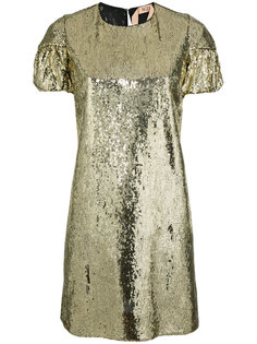 платье-футболка с отделкой пайетками  Nº21