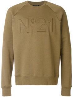 толстовка с тисненым логотипом Nº21