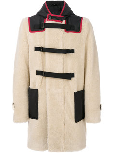 пальто из овчины с капюшоном Nº21