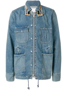 джинсовая куртка с декорацией на воротнике Sacai