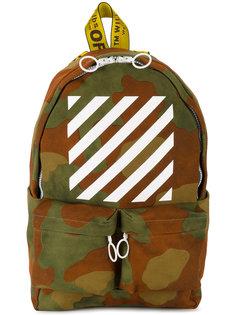 камуфляжный рюкзак с полосками Off-White
