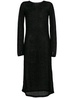прозрачное трикотажное платье  Mm6 Maison Margiela