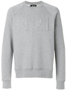 толстовка с вышитым логотипом Nº21