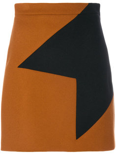 юбка с геометрической аппликацией  MSGM