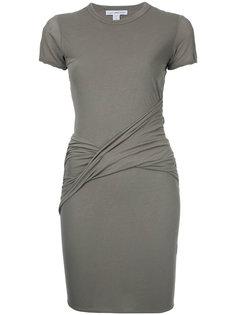 платье мини с сборкой  James Perse