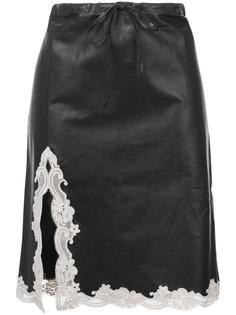 юбка с кружевной оторочкой Alexander Wang