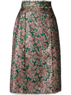 юбка с металлическим отблеском Dolce & Gabbana