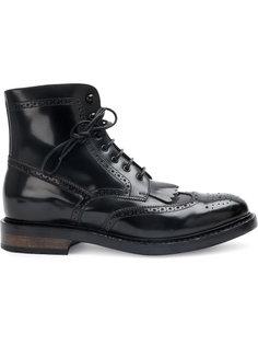 ботинки с деталями из пробивных дырок Officine Creative