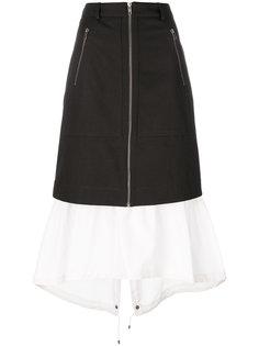 двухслойная юбка  Kenzo