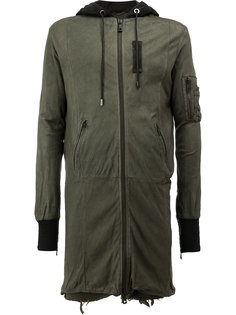 удлиненная куртка с капюшоном Giorgio Brato