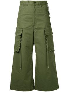 брюки карго с декоративной обметкой G.V.G.V.