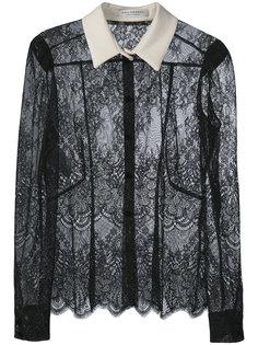 кружевная блузка с контрастным воротником Philosophy Di Lorenzo Serafini