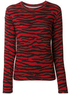 блузка с зебровым принтом Mm6 Maison Margiela