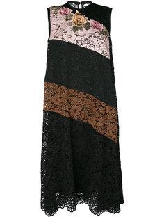 полосатое кружевное платье Antonio Marras