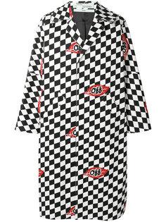 клетчатое пальто Racer Off-White