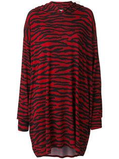 платье с капюшоном и зебровым принтом Mm6 Maison Margiela