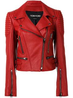 байкерская куртка с ребристой вставкой Tom Ford