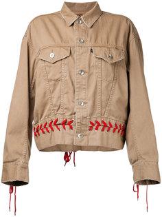 куртка с контрастной шнуровкой G.V.G.V.