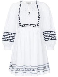 платье с кружевной вставкой  Sea